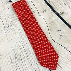 Robert Talbott Paul Simon red silk tie EUC